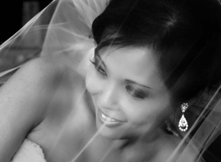 Black And White Bridal Portrait